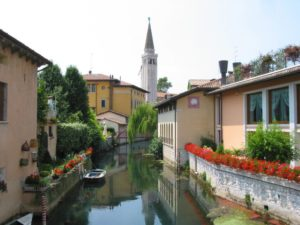 Sacile, view on Livenza river